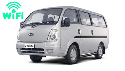 カーチャーター(WiFi付き)で使用するキアモーターズ TRAVELLO車(1名様から7名様用)
