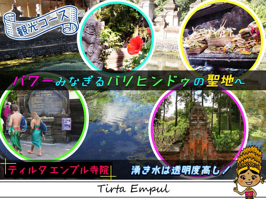 観光コース-パワーみなぎるバリヒンドゥの聖地ティルタエンプル寺院の湧き水