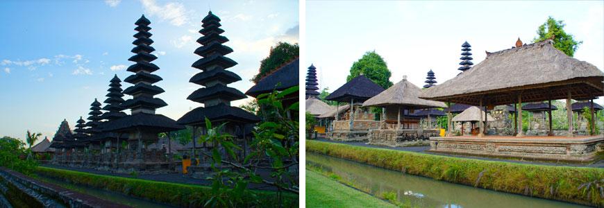 連なるメルが印象的なタマンアユン寺院と庭園