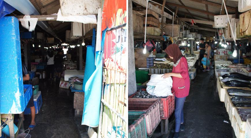 ジンバランの魚市場の入口