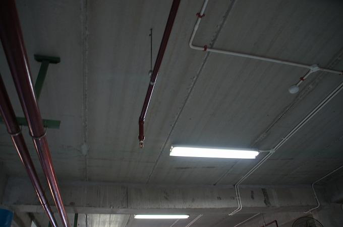 バドゥン市場のスプリンクラー設備