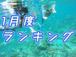 2020年1月度バリ島観光ツアー・バリ姫人気BEST 5